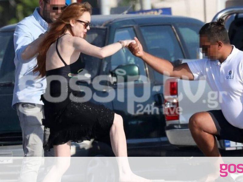 Lindsay Lohan: Η προσπάθεια της να ανέβει σε φουσκωτό στην Μύκονο (photos)